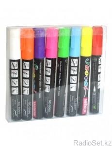 Флуоресцентные маркеры для LED доски, набор 8 шт.